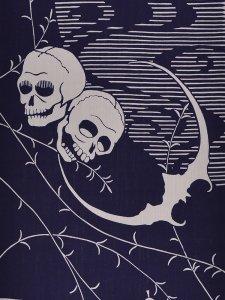 RumiRockゆかた「月とドクロ」