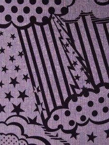 Rumi Rock木綿きもの 「ストーミー」薄紫