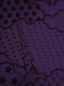 Rumi Rock木綿きもの 「ストーミー」濃紫