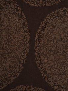 Rumi Rock木綿きもの 「丸紋鳳凰更紗」焦げ茶