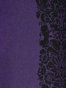 Rumi Rock木綿きもの 「ライオン更紗」紫