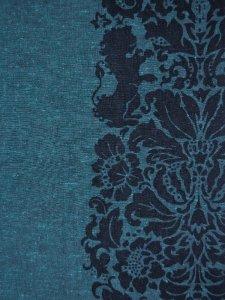 Rumi Rock木綿きもの 「ライオン更紗」青緑