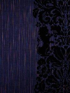 Rumi Rock木綿きもの 「ライオン更紗」黒色七色