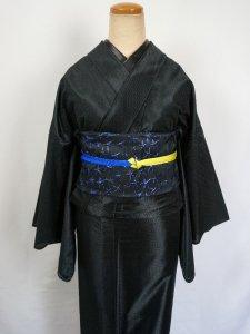 Rumi Rockきもの「バーズアイ」ブラック