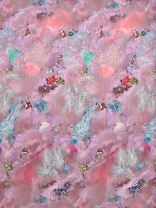 Rumi Rockきもの「鉱物ーミネラルの力ー」ピンク
