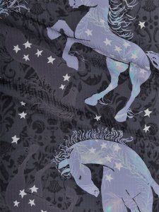 Rumi Rockきもの「ジプシーホース」チャコールグレー