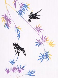 RumiRockゆかた「燕に楓」