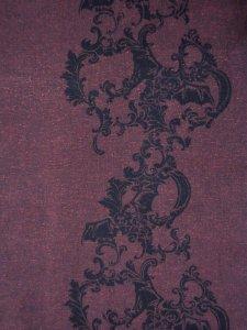 Rumi Rock木綿きもの 「コウモリ更紗」赤紫