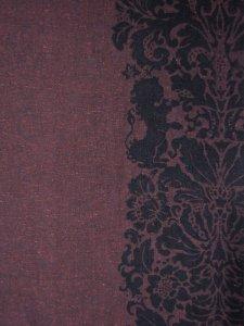 Rumi Rock木綿きもの 「ライオン更紗」赤紫