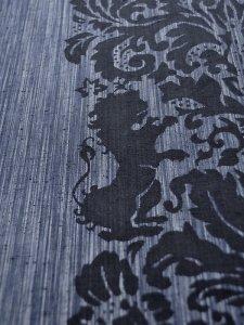 Rumi Rock木綿きもの 「ライオン更紗」紺絣
