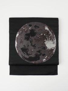 Rumi Rock 正絹 博多織名古屋帯「月面」