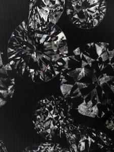 Rumi Rockきもの「ダイヤモンド」セピア