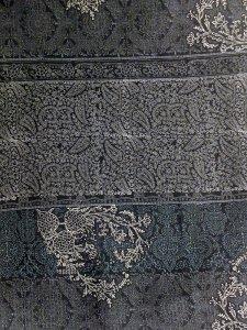 Rumi Rockきもの「木版更紗」グレー