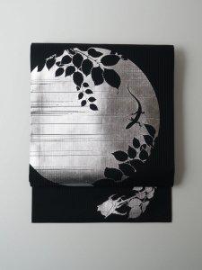 Rumi Rock 正絹 名古屋帯「薔薇とトカゲ」