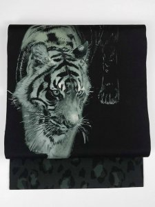 Rumi Rock 正絹 名古屋帯 タイガー