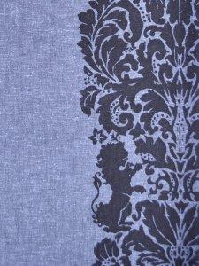 Rumi Rock木綿きもの 「ライオン更紗」青藍
