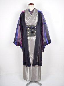 Rumi Rockレディス羽織 ブルー×パープル