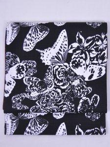 Rumi Rock木綿の両面名古屋帯「群蝶」