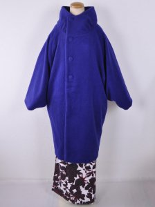立衿コート ブルー