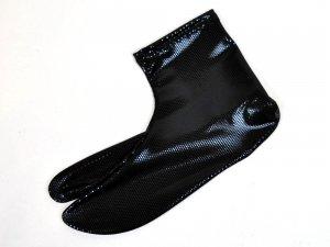 ラメドットストレッチ足袋 ブラック