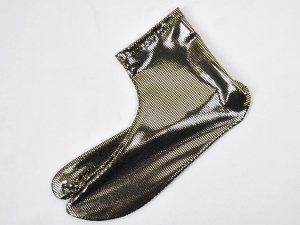 ラメドットストレッチ足袋 ブラックゴールド
