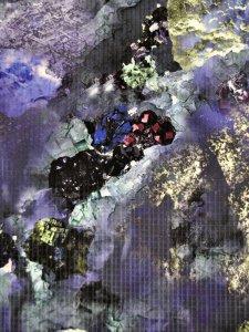 Rumi Rockきもの「鉱物ーミネラルの力ー」パープル