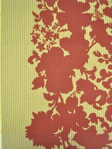 Rumi Rock木綿きもの 「花と虫」オレンジ