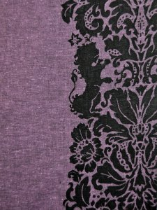 Rumi Rock木綿きもの 「ライオン更紗」灰紫