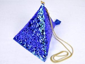 トライアングルバッグ ブルー