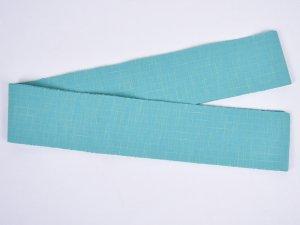 片貝木綿角帯 ブルーグリーン