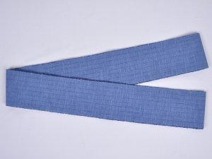 片貝木綿角帯 ブルー