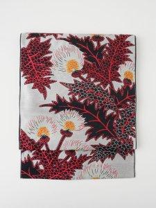 【受注商品】Rumi Rock 正絹 博多織名古屋帯「アザミ」