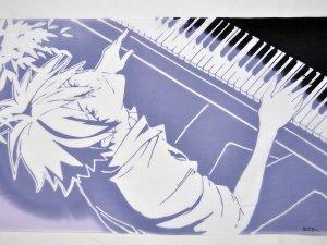 手ぬぐい ピアノとカヲル Rumi Rock × ヱヴァンゲリヲン新劇場版
