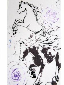 RumiRockゆかた「馬にバラ」