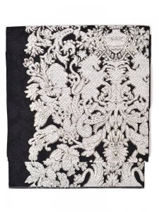 Rumi Rock西陣織袋帯 ユニコーン ブラック
