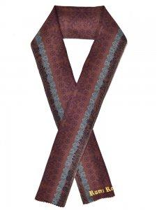 正絹半襟 ジュエリ スウェーデン刺繍チョコレート