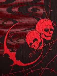 RumiRockゆかた 月とドクロ「美人も死んでしまえばみな同じ」