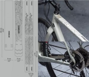 <img class='new_mark_img1' src='https://img.shop-pro.jp/img/new/icons1.gif' style='border:none;display:inline;margin:0px;padding:0px;width:auto;' />【 DYEDBRO 】  BIKE FRAME PROTECTION  (バイクフレームプロテクションキット)STAY FREE BLACK & WHITE