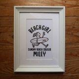 フレーム入りイラスト<br>BEACH GIRL MILEY<br>