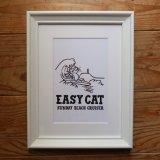 フレーム入りイラスト<br>波乗り EASY CAT<br>