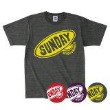 SUNDAY BORD LOGO<br>ヘビーウェイト<br>スタンダードキッズTシャツ<br>CHARCOAL