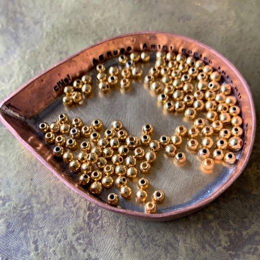 CCB151-1</br>銅玉 ゴールドMix </br>2.5ミリ 2g 約120個