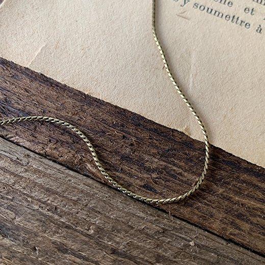 エレガントチェーンネックレス 真鍮古美