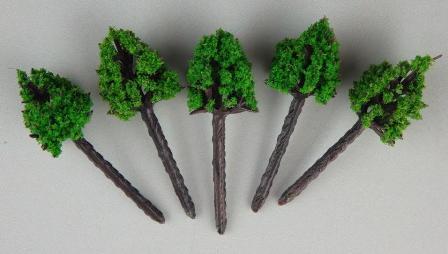 ジオラマ用樹木D 緑色 30mm 10本入り