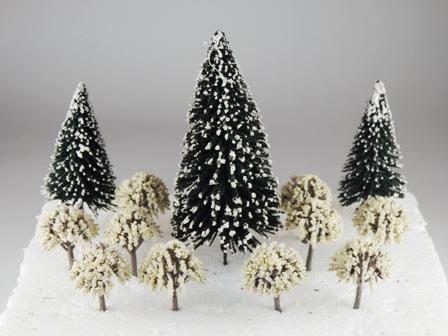 ジオラマに四季をとりいれてみよう! 雪景色 樹木13本セット