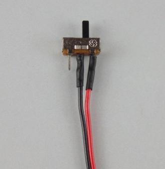 配線・リード線付きマイクロスライドスイッチ 一列タイプ 2個入り