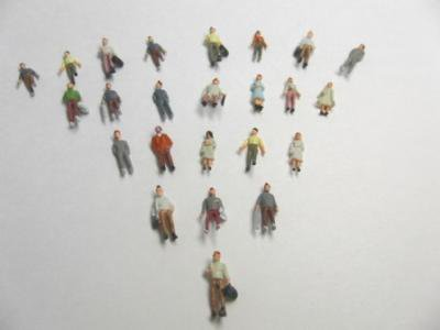 Nゲージ 模型人形 落ち着いた色調フィギュア 100体