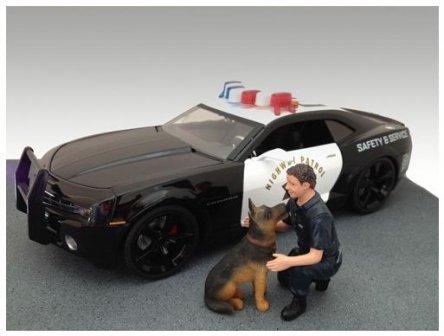 1/18 アメリカンフィギュア K-9ユニット オフィサーと犬