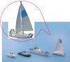 Tゲージ ヨット ボートセット 4隻