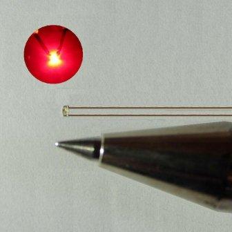 極小 配線付き 1005チップLED 赤